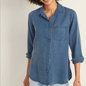 NWT Old Navy Relaxed shirt long sleeve- Medium